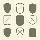picture of shield  - Shield icons set - JPG