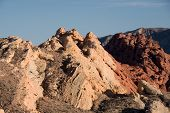 stock photo of valley fire  - The Valley of Fire is the oldest and biggest State Park in Nevada and was onened 1935 - JPG
