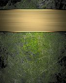 pic of nameplates  - Grunge green background  - JPG