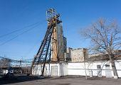 picture of headgear  - Headgear coal mine - JPG