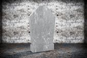 picture of empty tomb  - Closeup Blank Memorial Gravestone on grunge background - JPG