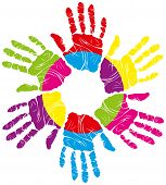 image of human rights  - vector children - JPG