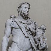 Statue Of A Nobel Roman Man, Rome, Italy poster