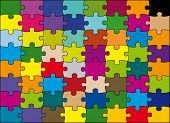 pic of peculiar  - 64 pieces puzzle vector color - JPG
