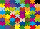 foto of peculiar  - 64 pieces puzzle vector color - JPG