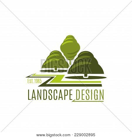 Landscape Design Company Icon Template For Landscaping And Green ...