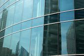 Glass Facade Panels Of Office Building, Architecture Background. Construction, Structure, House, Pro poster