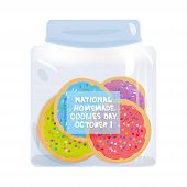 Frosted Sugar Cookies, National Homemade Cookies Day October 1, Italian Freshly Baked Cookies In Jar poster