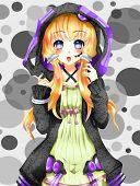 Anime Kawaii Fashion Girl, Anime And Manga Style. poster