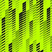Abstract Geometric Seamless Pattern With Vertical Fading Lines, Tracks, Halftone Stripes. Extreme Sp poster