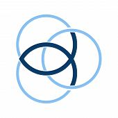 Vector Symbol For Christian Community: Trinity Symbol With Christian Fish, Known As Ichthus Or Ichth poster