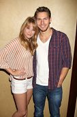 LOS ANGELES - AUG 27:  Kim Matula, Scott Clifton attending the Bold & The Beautiful Fan Event 2011 a