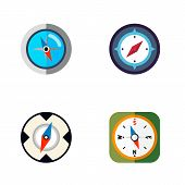Icon Flat Direction Set Of Geography, Instrument, Direction And Other Vector Objects. Also Includes  poster