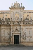 stock photo of corbel  - Baroque facade of the cathedral  - JPG