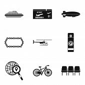Expedition Icons Set. Simple Set Of 9 Expedition Vector Icons For Web Isolated On White Background poster