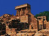foto of minos  - Temple in  Knossos - JPG