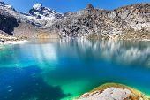 Beautiful mountains landscapes in Cordillera Huayhuash, Peru, South America poster
