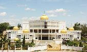 picture of gurudwara  - Gilded onion domes of the Govind Singh Museum at Nanded - JPG