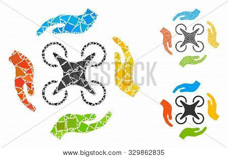 poster of Copter Care Hands Composition Of Rugged Items In Various Sizes And Color Hues, Based On Copter Care