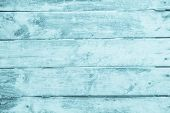 Old Grunge Wood Plank Texture Background. Vintage Blue Wooden Board Wall Have Antique Cracking Style poster