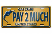 image of high-octane  - Concept image with gas nozzle on license plate - JPG