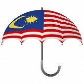 Malaysia Flag Umbrella. Social Security Concept. National Flag Of Malaysia  Illustration poster