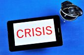 Crisis And The Old Empty Wallet. Crisis - A Sharp Change, A Steep Fracture, A Difficult Transition S poster