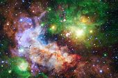 Beautiful Nebulaes In Outer Space. Starfields Of Endless Cosmos. Elements Of This Image Furnished By poster