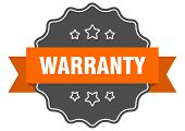 Warranty Isolated Seal. Warranty Orange Isolated Label poster