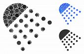 Spray Tool Mosaic Of Small Circles In Different Sizes And Color Tones, Based On Spray Tool Icon. Vec poster