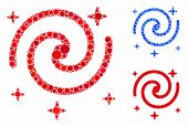 Galaxy Stars Composition Of Small Circles In Various Sizes And Color Tinges, Based On Galaxy Stars I poster