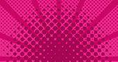 Fuchsia Color Sunburst Pop Art Background Vector Illustration Design poster