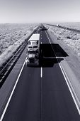 picture of 18 wheeler  - Truck delivery on Arizona I - JPG