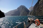 On A Boat In The Milford Sound