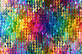 Sequins Background. Multicolored Sequins. Background With Shiny Sequins On Fabric. poster