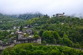 panorama of ruins of Bellinzona castle