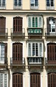 Spain - Malaga City:  A Down Town, Turn Of The Century Residential Building. Elegant, Symmetrical De poster