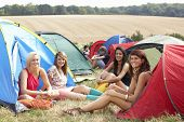 pic of young adult  - Young people on camping trip - JPG