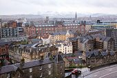 Cityscape of Edinburgh Skylines building Scotland UK