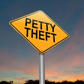 image of shoplifting  - Illustration depicting a sign with a petty theft concept - JPG