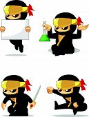Постер, плакат: Ninja Customizable Mascot 7