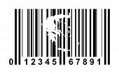 Greece shopping bar code isolated on white background.
