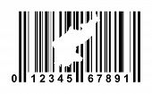 North Korea shopping bar code isolated on white background.