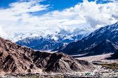 foto of manali-leh road  - Ladakh in Indian Himalayas Himachal Pradesh India - JPG