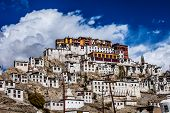 picture of lamas  - Thiksey Monastery in city Ladakh in India - JPG