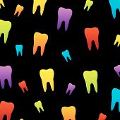 Background with colorful teeth