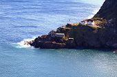 Aerial View Of Fort Amherst, Newfoundland, Canada.