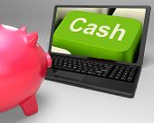 Cash Key Shows Online Finances Earnings And Savings