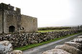 foto of galway  - A quiet day at Kilmacduagh Monastery, County Galway in Ireland ** Note: Shallow depth of field - JPG