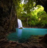image of jungle  - Waterfall in tropical forest - JPG